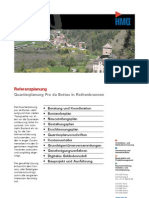 Rothenbrunnen GR, Quartierplanung Pro da Bottas durch die HMQ AG