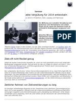 Ziele und variable Vergütung für 2014 entwickeln