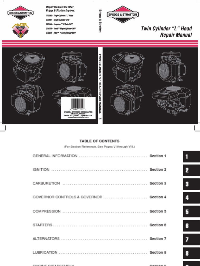 Briggs And Stratton 18 5 Hp Ohv Intek Manual