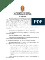 Acta Junta Municipal Distrito Beiro enero 2013