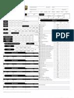 Editable Pathfinder Character Sheet