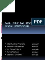 Gaya Hidup Dan Kesehatan Mental Homoseksual