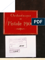 The Luger Pistol Blueprints (Ordonnanz zur Pistole 1900)