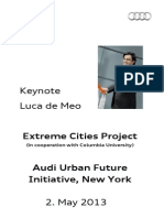 Luca de Meo - Extreme Cities Project