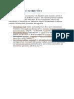 Introduction to International Economic System