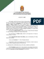 Acta Junta Municipal de Distrito Beiro febrero 2013