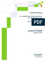 Acatech STUDIE Internet Privacy WEB