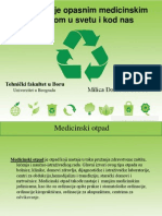 Upravljanje opasnim medicinskim otpadom u svetu i u Srbiji