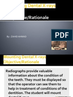 Mounting Dental X-Rays