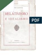 Antonio Aliotta - Relativismo e Idealismo