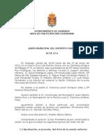 Acta Junta  Municipal Distrito Chana enero 2013