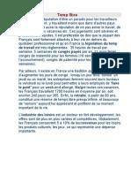 Temps libre                                              La France a la réputation d