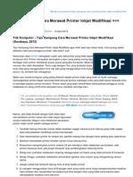 Tips-komputer.com-Tips Gampang Cara Merawat Printer Inkjet Modifikasi