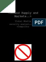 Demand Supply and Markets v0.02