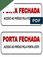 Aviso - Porta Fechada