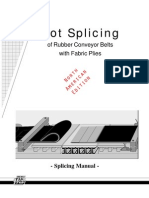 Hot Splicing of Rubber Conveyor Belts With Fabric Plies