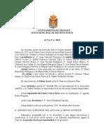 Acta Junta Municipal Distrito Norte 2013