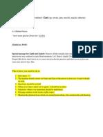 Format for Transcription