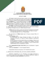 Acta Junta Municipal Distrito Norte marzo 2013