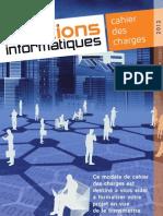 Solutions Informatiques Cahier Des Charges