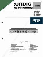 Grundig Sv 1000 Serivce Manual