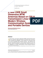 A New UWB Small Dimension MTM Antennas Based on CRLH Transmission Lines for Modern Wireless Communication Systems and Portable Devices
