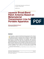 Squeeze Broad-Band Patch Antenna Based on Metamaterial Transmission Line 