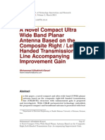 A Novel Compact Ultra Wide Band Planar Antenna Based on the Composite Right/Left-Handed Transmission Line Accompanying Improvement Gain