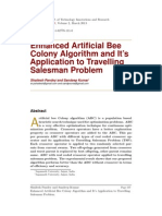 Enhanced Articial Bee Colony Algorithm and It's Application to Travelling Salesman Problem