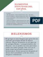 ELEMENTOS QUE CONSTITUTIVOS DEL ESPAÑOL