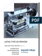 Lathe-Type 3D Printer