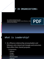 Topic 1 Introduction to Leadership