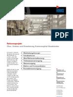 Chur GR, Referenzprojekt Kantonsspital Graubünden der HMQ AG