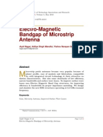 Electro-Magnetic Bandgap of Microstrip Antenna