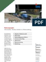 Churwalden GR, Referenzprojekt Neubau Zufahrt zu Wohnsiedlung der HMQ AG