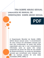 Palestra Sobre Abuso Sexual