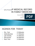 Develop Medical Record in Fm