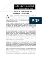 LA IRREGULAR CONCESIÓN DEL TERMINAL TERRESTRE