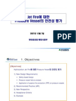 Jet Fire Pressure Vessel