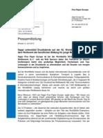 Sappi Press Release - WorldSkills Leipzig 2013 Sponsorship - German version