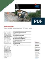 Flims GR, Ausbau Gemeindestrasse Via Davos Sulten durch die HMQ AG
