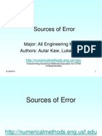 sources of errors part 3