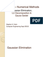 Gaussian LU Eliminations Seidel