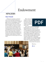 BYU Singers Endowment Uses and Purpose