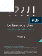 Guide Langage Clair