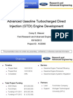 Advanced Gasoline Turbocharged Direct Injection (GTDI) Engine Development