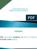 3 & 4- Attitudes & Personality