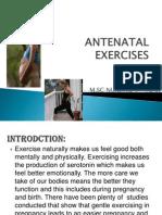 Antenatal Exercises