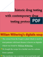 Compare Historic Drug Testing With Contemporary Drug Testing