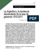 Maito, Esteban Ezequiel - La Argentina y La Tendencia Descendente de La Tasa de Ganancia 1910-2011.